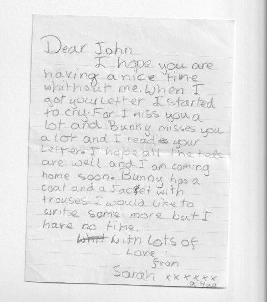 letter to John Bear